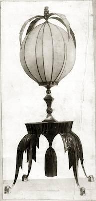Lamp designed by Dagobert Peche, Vienna, 1920.