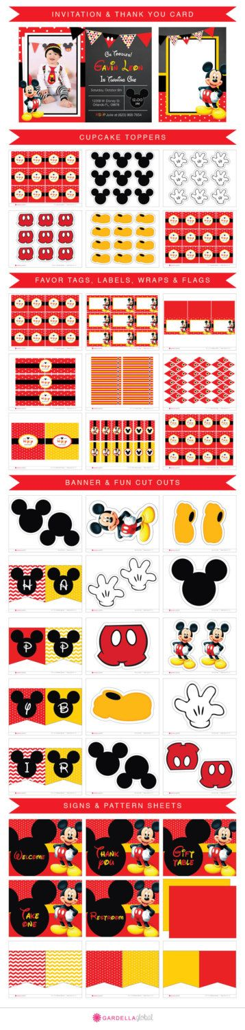 Mickey mouse Invitation Mickey mouse invite Mickey by DellaGlobal