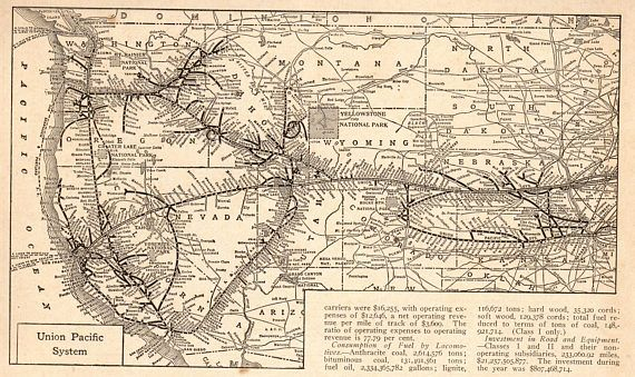 1922 Antique UNION PACIFIC RAILROAD Map Black and White ... on kansas city southern railroad map, current united states railroad map, amtrak map, chicago, burlington and quincy railroad map, burlington northern railroad map, norfolk southern railroad map, indiana harbor belt railroad map, illinois railway museum map, santa fe railroad map, new york central railroad map, railroad tracks in colorado map, chicago & northwestern railroad map, rock island railroad map, b&o railroad map, louisiana & arkansas railroad map, galena and chicago union railroad map, ohio railroad map, wabash railroad map, great northern railroad map, soo line railroad map,