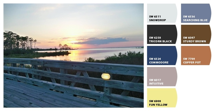 #chipit   Sunset @ the bridge to Jolee Island in Sandestin, FL (June 2012). Repin via: @Melissa GChips, Color Palettes, Williams Colors, Colors Boards Palettes, Sw Painting, Colors Palettes, Painting Ideas, Painting Palettes, Painting Colors