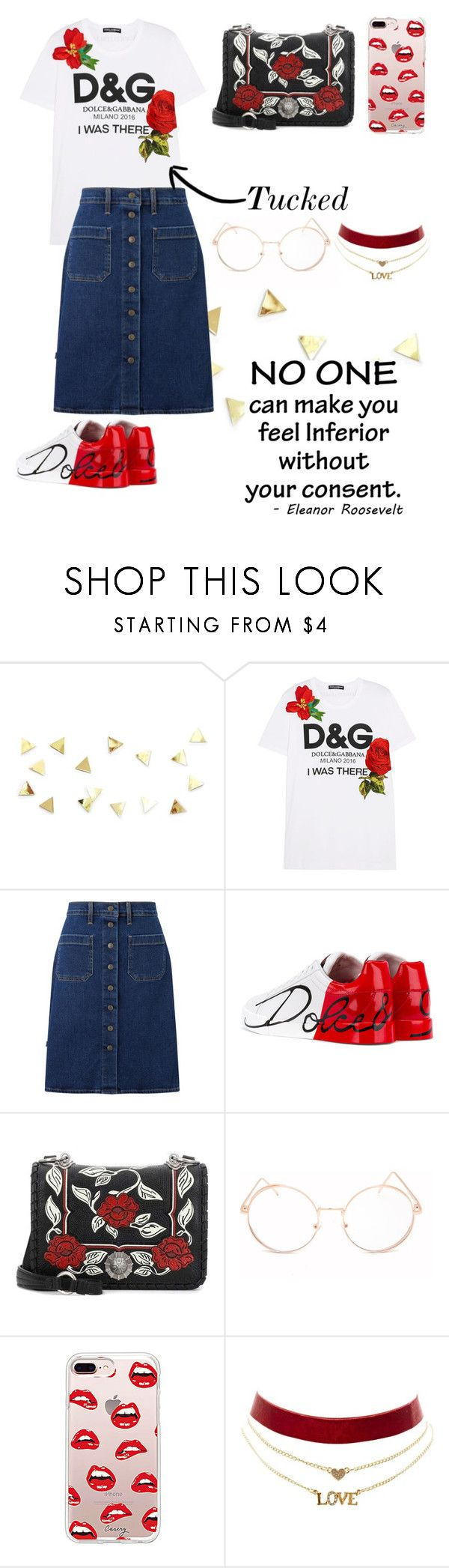 """""""Untitled #520"""" by hxrrible ❤ liked on Polyvore featuring Dolce&Gabbana, Levi's, Miu Miu, Full Tilt, Steve Madden and Charlotte Russe"""