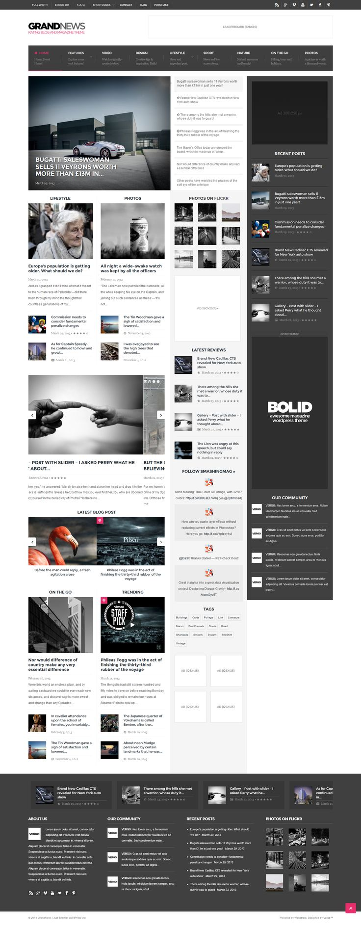 10 best box layout images on Pinterest | Website template ...