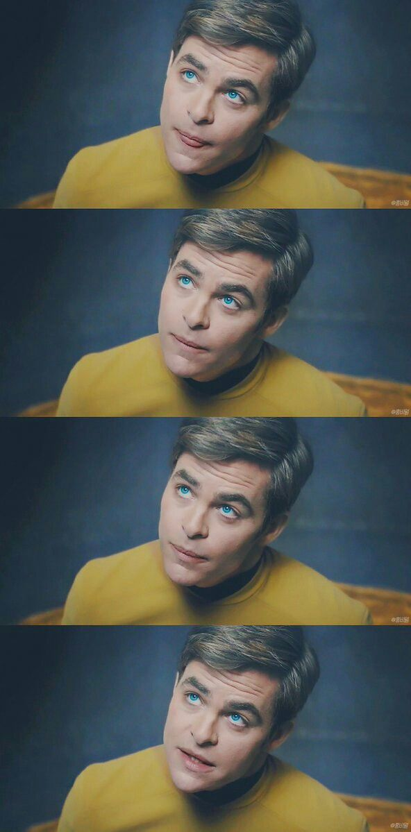 Chris Pine as 'Captain James T. Kirk'