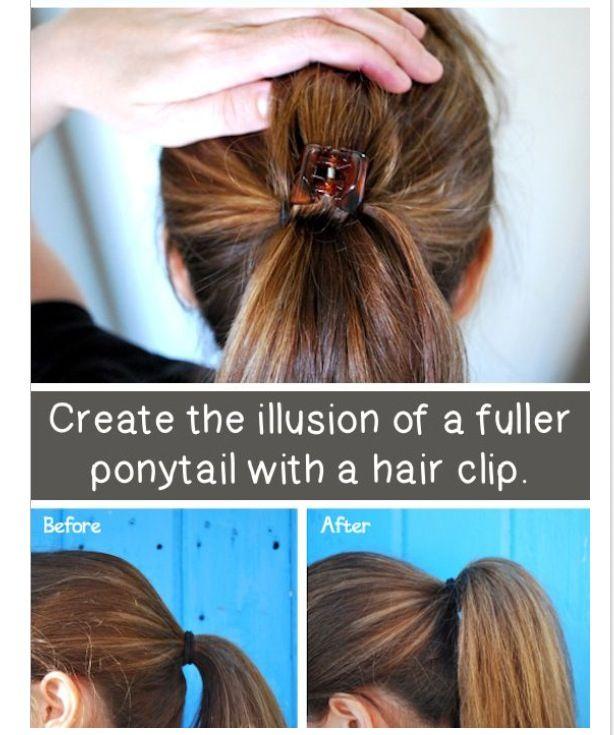 Handige tip voor een vollere staart. #fuller #hair #ponytail