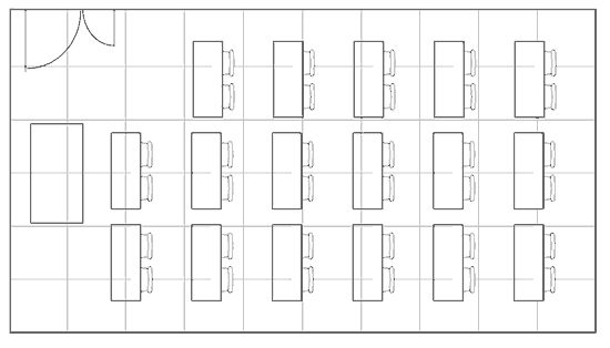 Classroom style seating plan