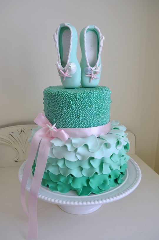 Dance with me, under the sea Cake. 05/14/14JHB here it is in aqua/turquoise. TFS.