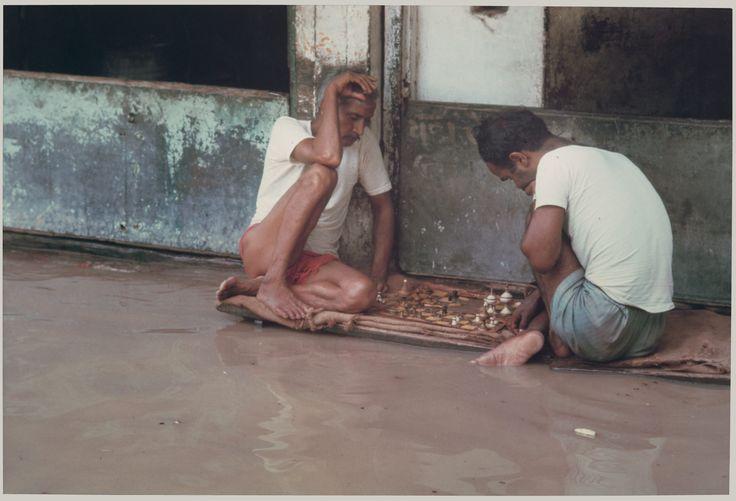 Chess Players, Monsoon Floods, Benares, Uttar Pradesh