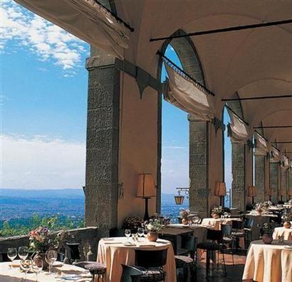 villa san michele restaurant, fiesole, italy, overlooking florence