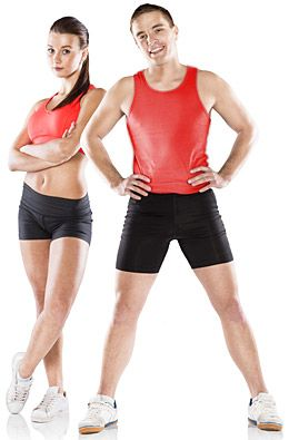 male and female personal trainer