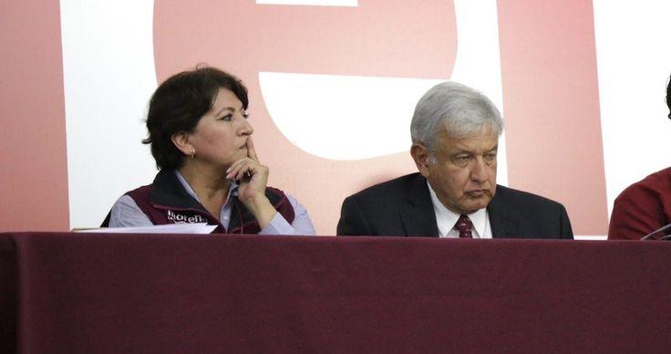 """Delfina Gómez reiteró su triunfo el 4 de junio en las elecciones del Estado de México y acusó al PRI de intimidar a coordinadores de Morena con presuntos citatorios de la FEPADE. """"Les ganamos la gubernatura. Me da mucha satisfacción que pusimos a temblar al PRI, y en la propia casa de Peña Nieto"""" di"""