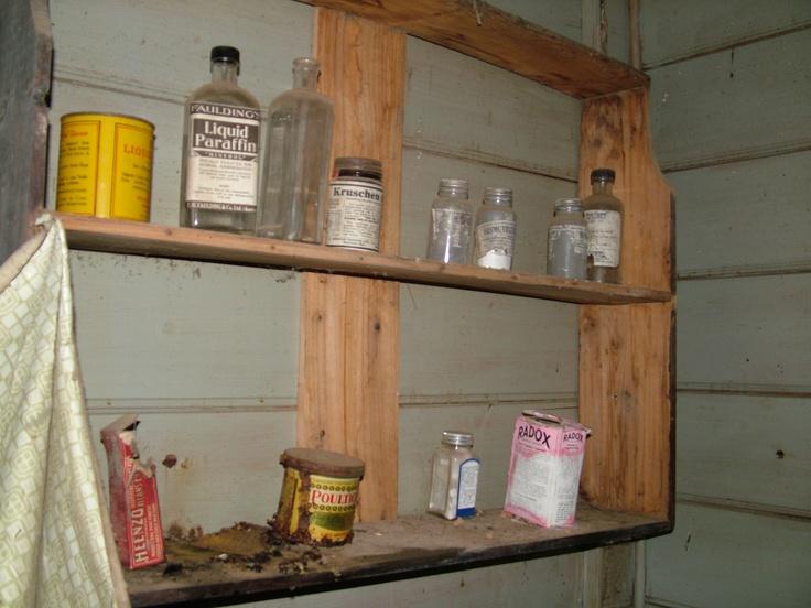 Medicine bottles.