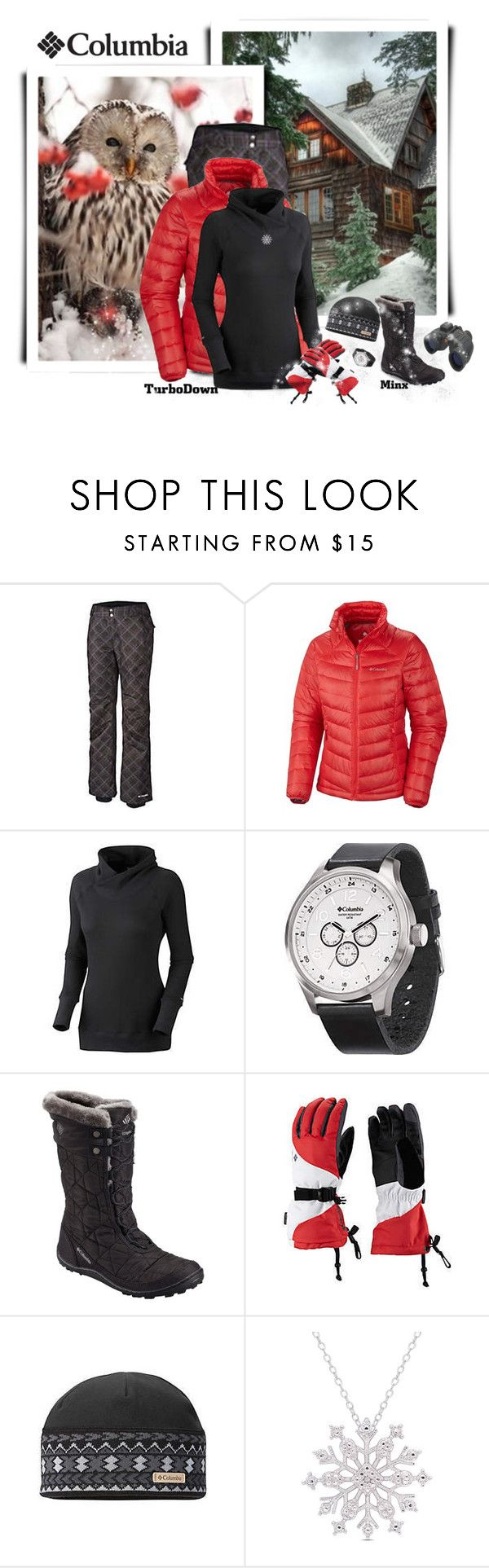 """Get Down With Columbia TurboDown: Contest Entry"" by dkelley-0711 ❤ liked on Polyvore featuring Columbia Sportswear, Celestron, Alpine and Finesque"
