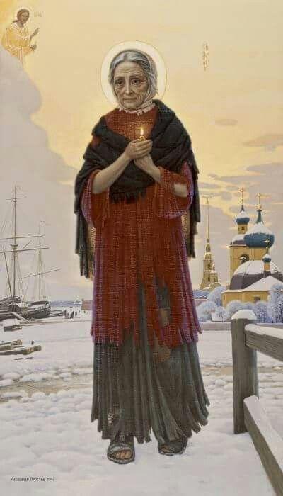 Alexander Prostev. Saint Xenia the best icon of her yet, i love it_Простев Александр. Блаженная Ксения Петербургская