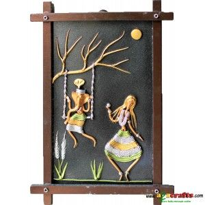 FIBER wall hanging, Ganesh Laxmi - Spiritual - Rs 648 - Hand Made Crafts - Buy & Sell Indian Handmade Crafts and Handmade Jewelry and Gifts