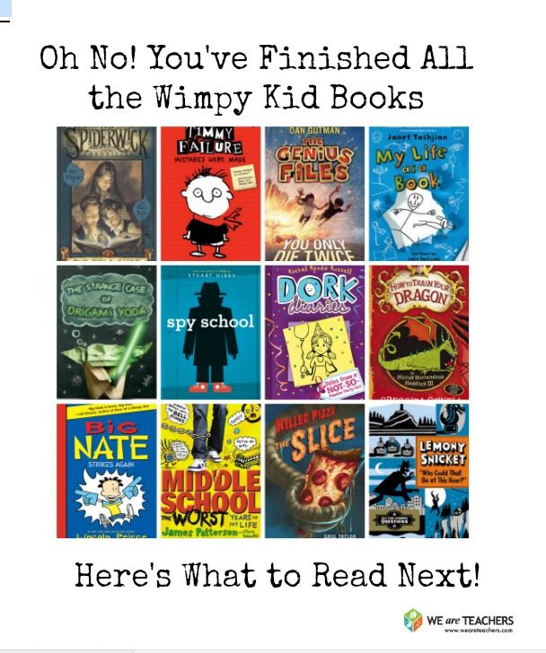 What to read after you've read the Diary of a Wimpy Kid series a bajillion times!