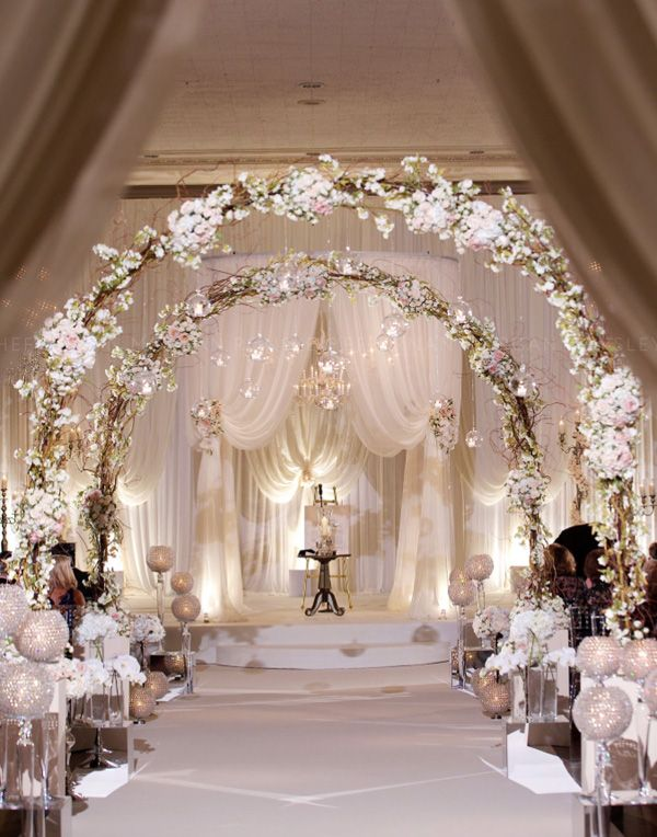 glamourous romantic blush pink wedding ceremony ideas