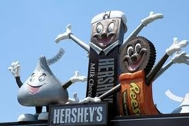 Hershey Park, Hershey, PA Been here a couple times. My most favorite part visiting the Hershey Candy store !
