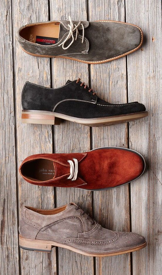These mens suede shoes can be worn with anything. Love all the different colors too.