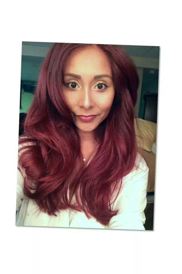 Nicole polizzi burgundy medium red hair