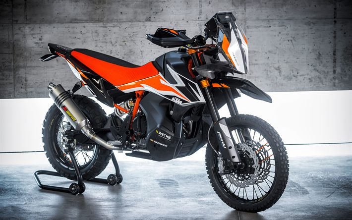 Download wallpapers 4k, KTM 790 Adventure R, 2018, Cross-country motorcycles, new motorcycles, KTM