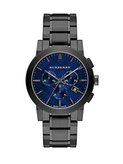 Burberry - Round Stainless Steel Chronograph Watch