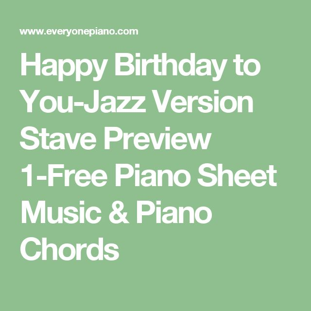 Best 25+ Happy Birthday Piano Ideas That You Will Like On