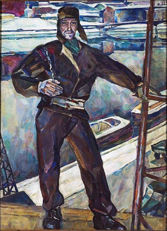 Николай Андронов. «Монтажник». 1958 г.