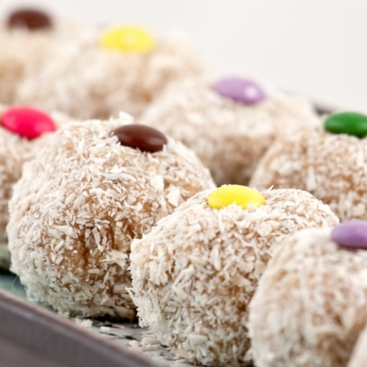 Coconut coated Peanut Butter Balls make a tasty healthy treat. Coconut Coated Peanut Butter Balls Recipe from Grandmothers Kitchen.