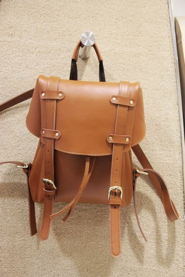 Handmade BACKPACK real leather school bag design - Handmade in JAPAN