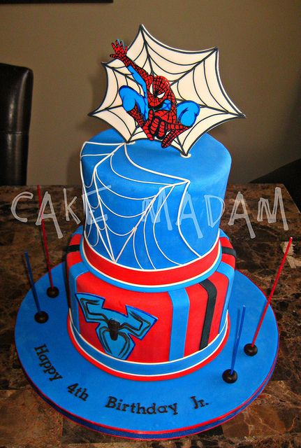 Spiderman cake - could maybe do the top part in chocolate?