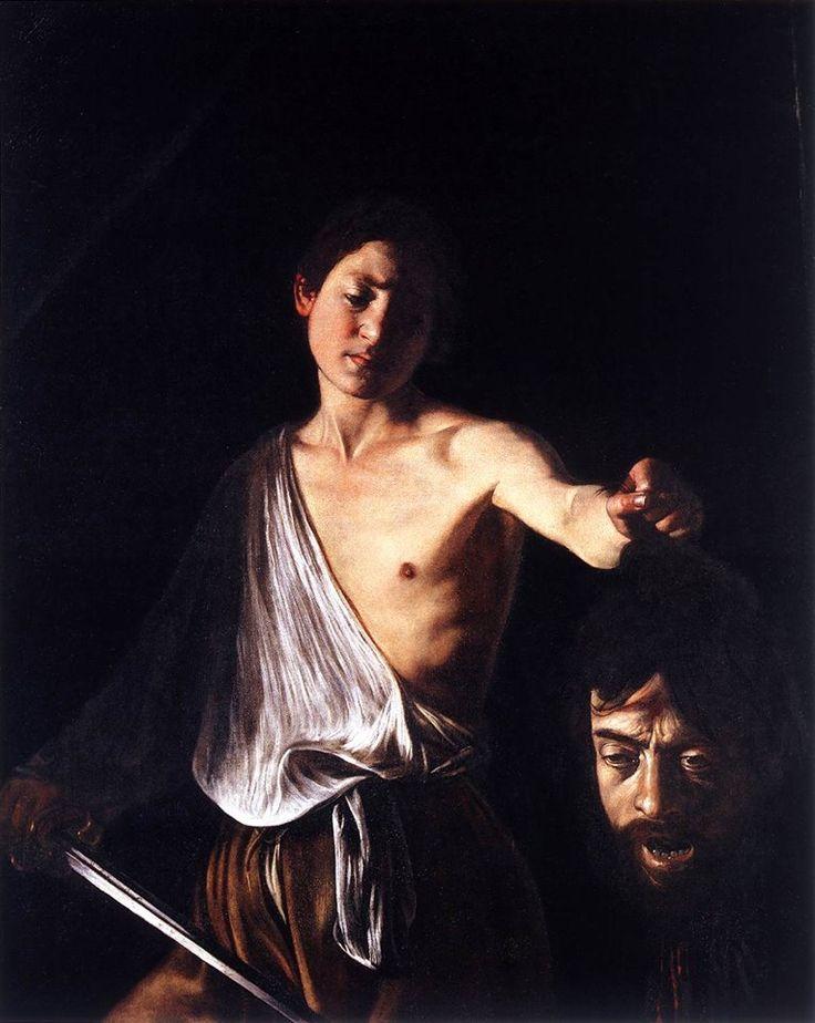 Un'opera di Caravaggio: Davide con la testa di Golia conservata alla Galleria Borghese di Roma