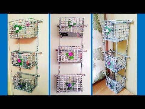 (9) DIY Newspaper wall mount rack | Newspaper organizer - YouTube