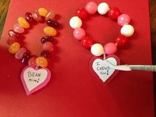 Candy bracelets/necklaces on dental floss thread!