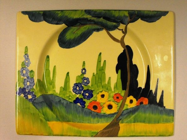 Clarice Cliff plate.