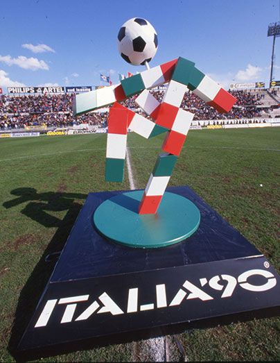 "Designer Lucio Boscardin won the competition to design the mascot of Italia '90 in the mid 1980s and the name ""Ciao"" was chosen by a multiple-choice poll on the back of football-pools tickets."