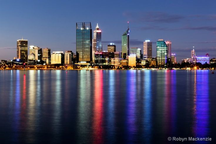 Perth, Western Australia The most beautiful smaller sky line in the World especially at night. Magical and  intimate ...