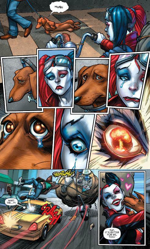 harley quinn saves dachshund comic
