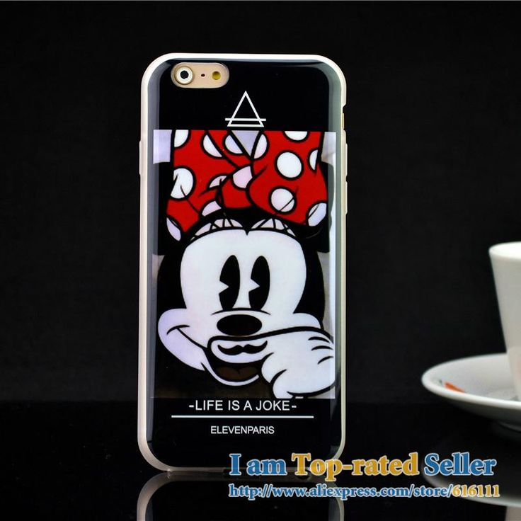 """For iphone6 6s case Eleven Paris Life Is A Joke Moustache Faces Soft TPU Case Cover for iPhone 6 4.7"""""""