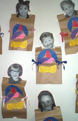 The Human Body paper bag project