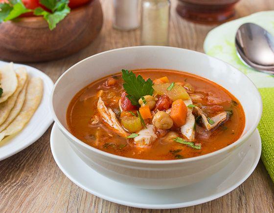 Суп из курицы в марокканском стиле