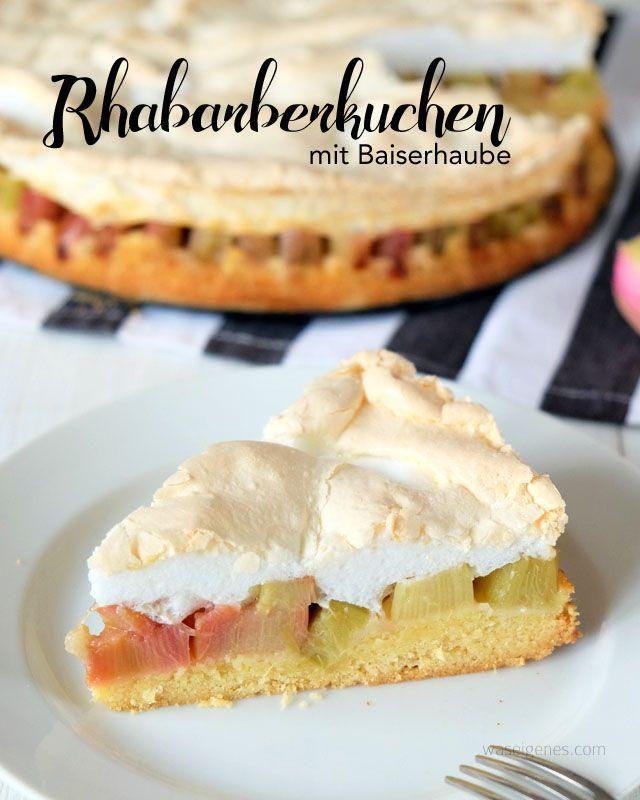 Rhabarberkuchen mit Baiserhaube | Rezept & Backanleitung | köstlichster Rhabarberkuchen | waseigenes.com