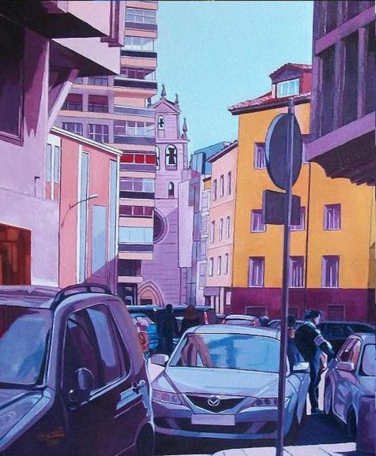 Titulo: Calle Hortelanos (Burgos), óleo sobre tabla, 73 x 60, 500 €