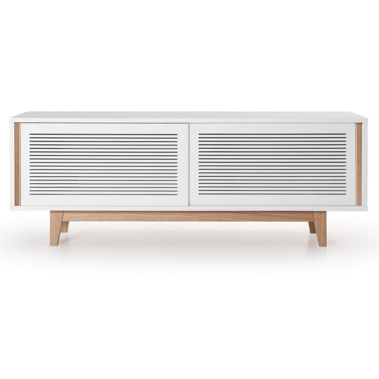 Line mediabenk fra Department. En moderne og flott mediabenk i skandinavisk design. Designen er enke...