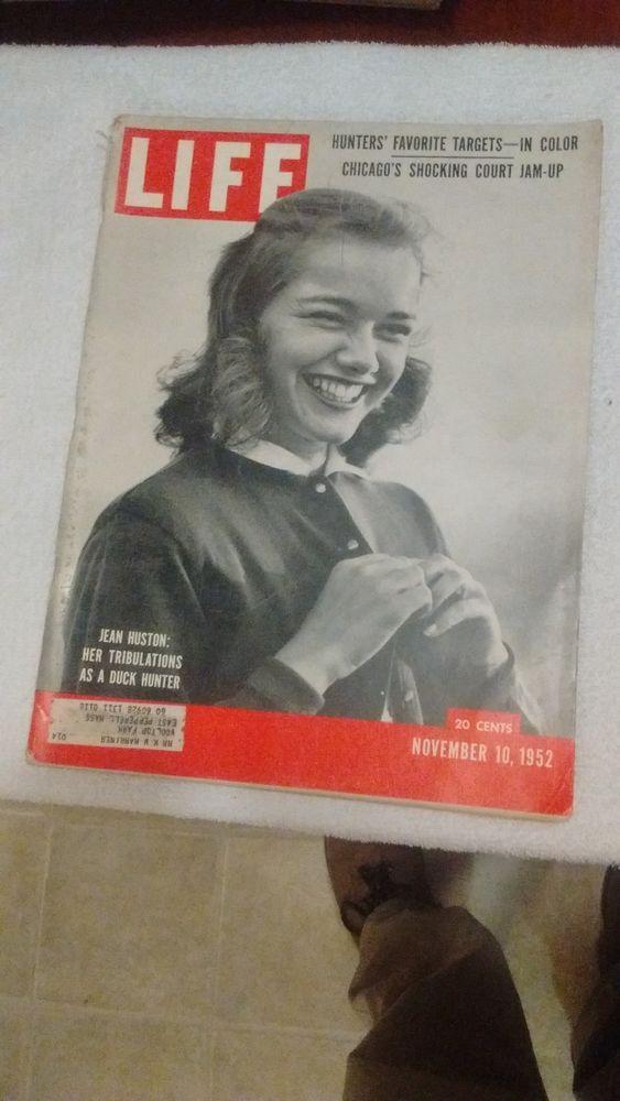 Life magazine back issues , nov 10,1952, june 22,1953,dec 15,1958 and dec 26 196