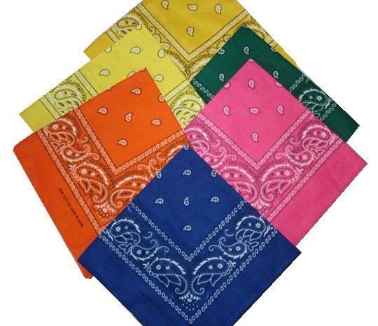 PDF of 140 uses for a bandana... Great info!! http://asher-resnick.us/180_Uses_for_a_Bandana.pdf