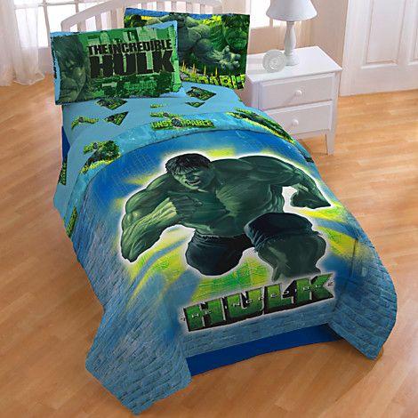 Incredible Hulk Comforter Disney Store  Hunters Room  Pinterest