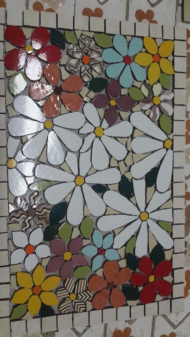 tabuleiro mosaico em andamento