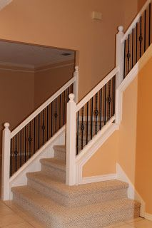 Life's Sweeter with Chocolate: Updating Stair Baluster Spacing
