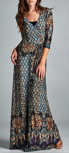 I'm generally not a fan of patterns, but I like this one on this style of dress - Madigan Dress