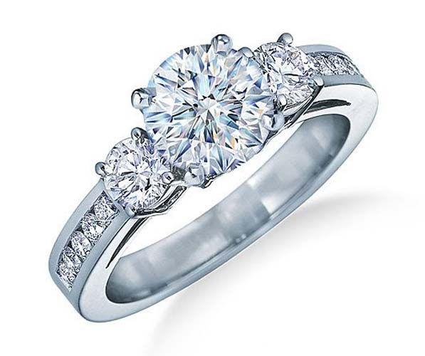 Tiffany engagement ring w/ channel set diamonds